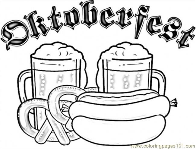 Beer Festival In Munich Coloring Page Free Germany