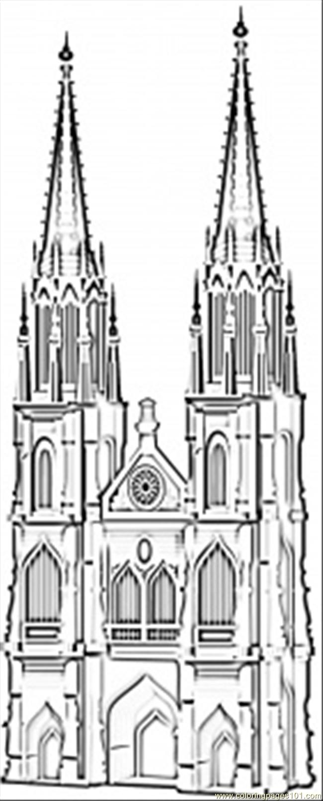 Famous Cathedral In Koln Coloring Page