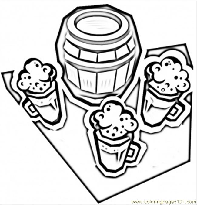 German Beer Coloring Page