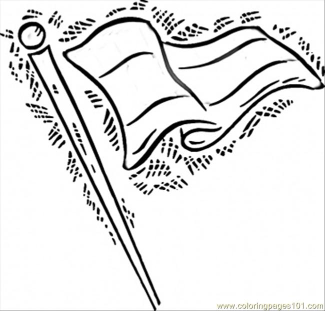 German Flag In The Wind Coloring Page