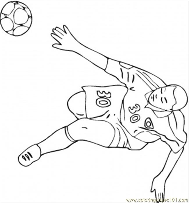 German Football Player Coloring Page - Free Germany ...