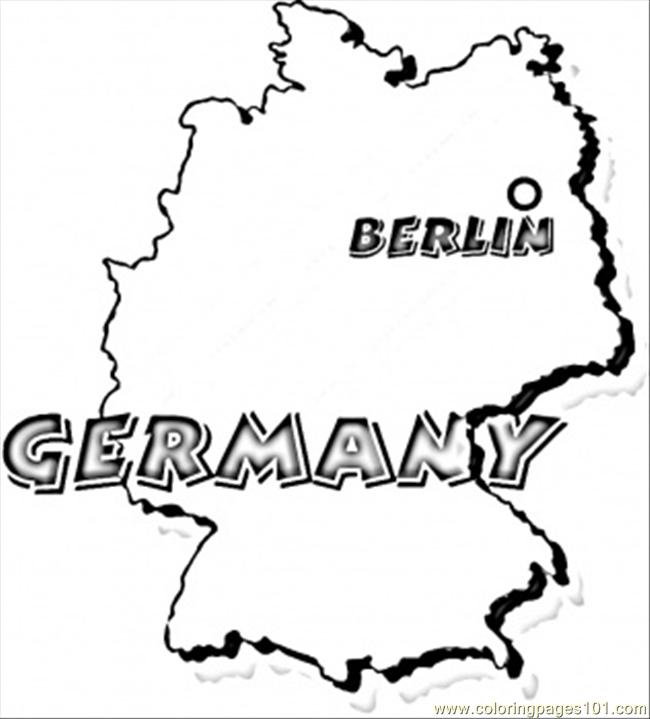 Germany Coloring Page Free Germany