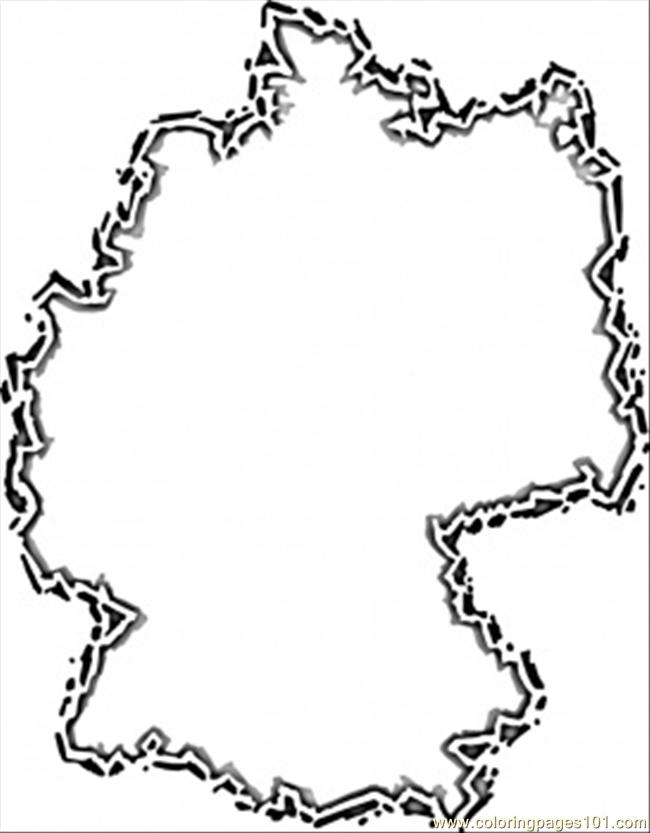 Germany Map Coloring Page