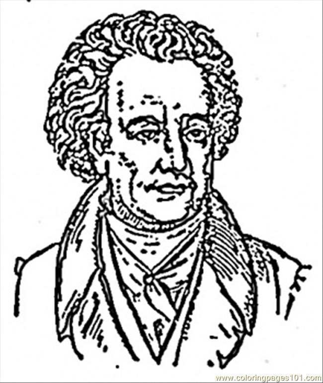 johann wolfgang von goethe coloring page