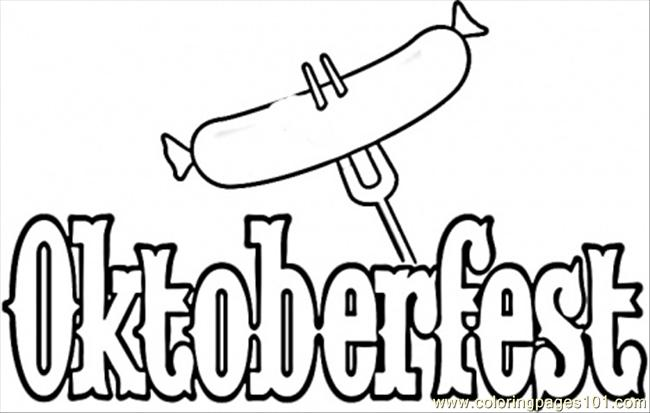 Welcome To Oktoberfest Coloring Page