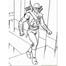Gi Joe Med coloring page