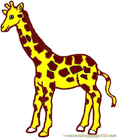 Giraffe Coloring Page 03 printable coloring page for kids and adults
