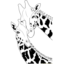 Giraffe Free Coloring Page for Kids