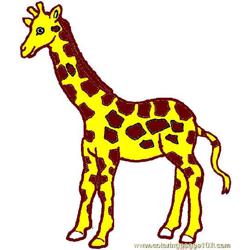 Giraffe Coloring Page 03