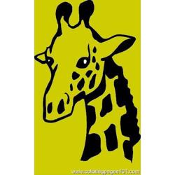 Giraffe Coloring Page 07