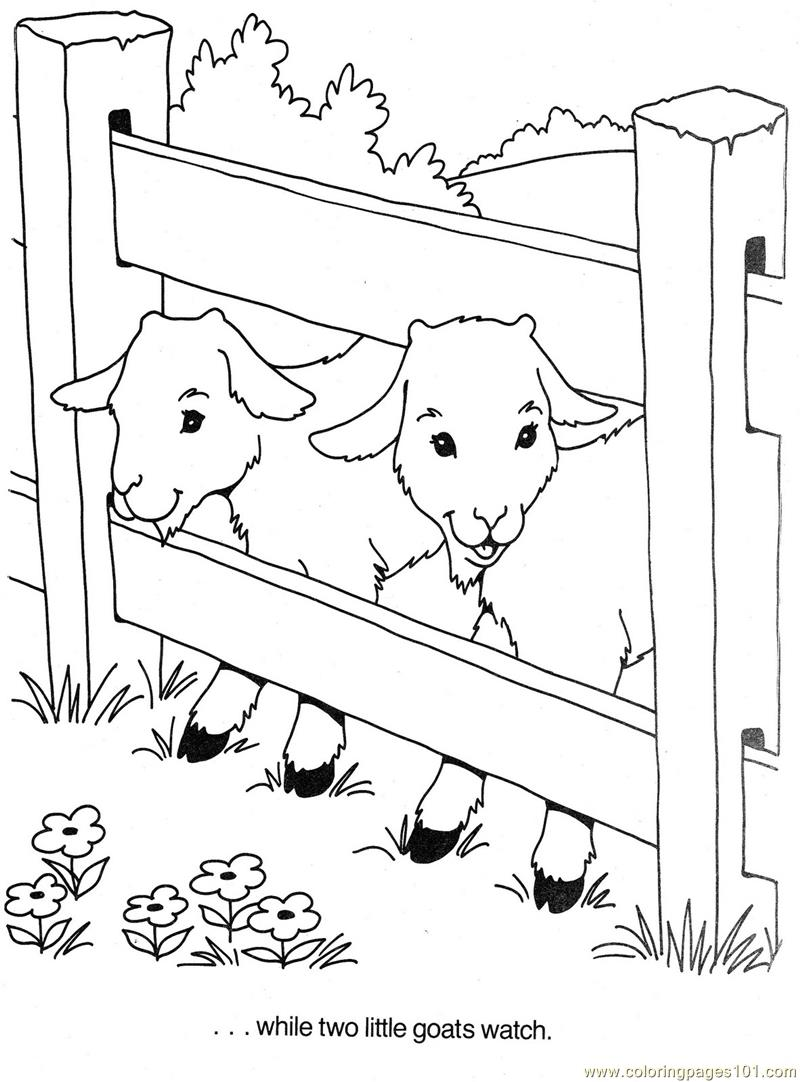 Stardancer Vacation Fun Coloring Page Free Goat Coloring