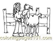 Goat Coloring Page 11 Coloring Page