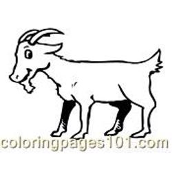 Goat Coloring Page 05