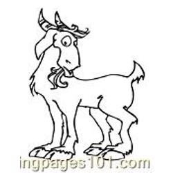 Goat Coloring Page 10