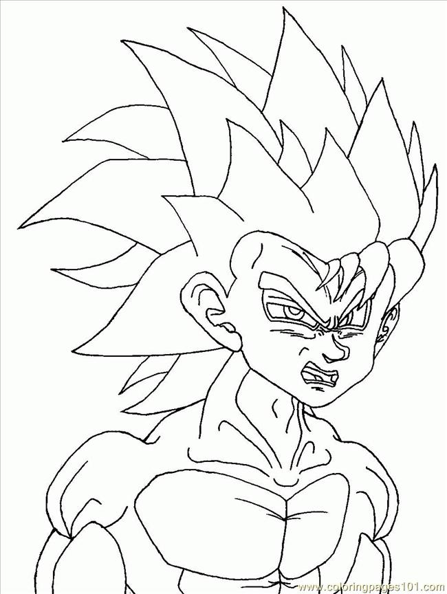 Goten Dragon Ball coloring page | Coloring pages | 864x650