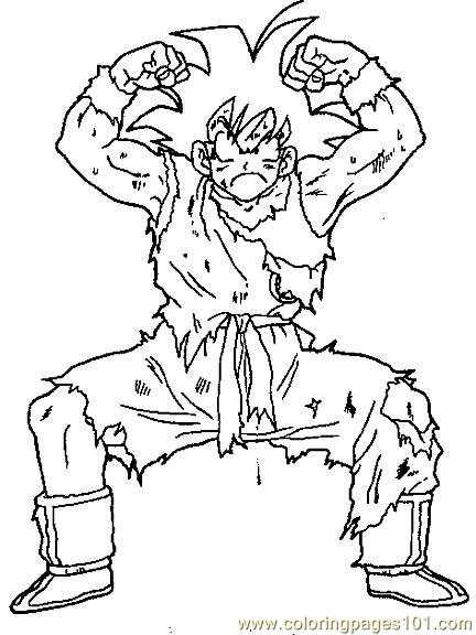 broly from dragon ball z coloring page printable