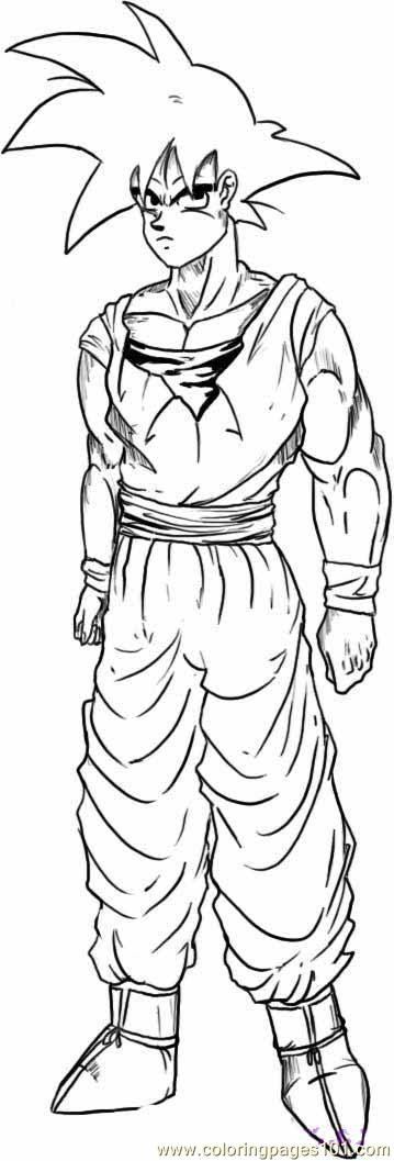 Goku Step 6 Coloring Page Free