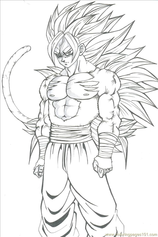 Son Goku By Majinmina Coloring Page