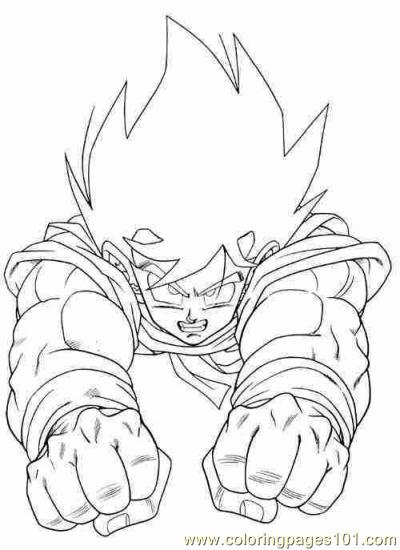Goku01 Coloring Page Free Goku Coloring Pages