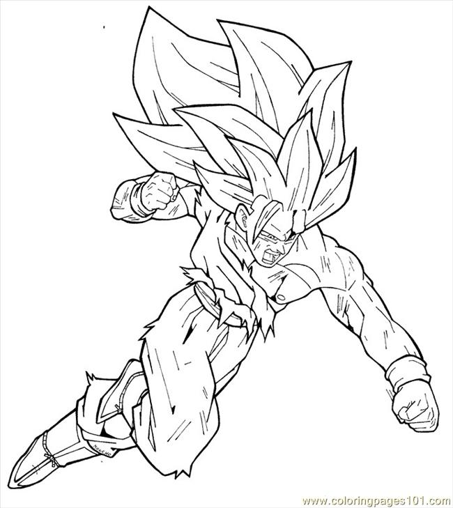 goku ss3 by moncho m89 coloring page - Dragon Ball Goku Coloring Pages