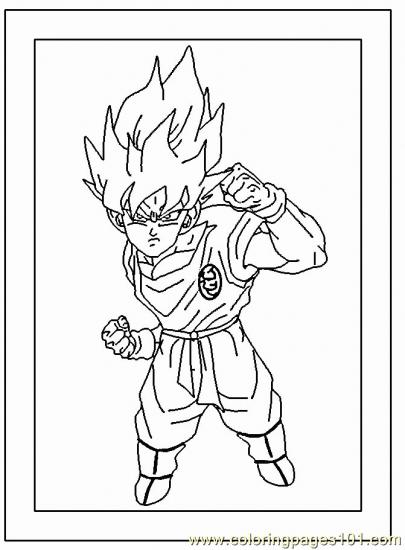 Normal Goku4 Coloring Page Free Goku Coloring Pages