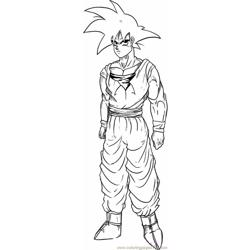 Goku Step 6 coloring page