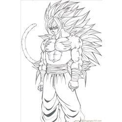 Son Goku By Majinmina Free Coloring Page for Kids