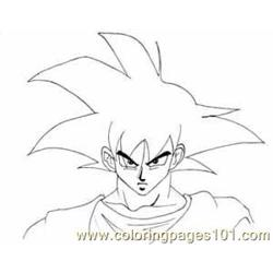 Goku1a coloring page
