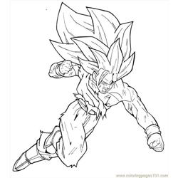 Goku Ss3 By Moncho M89 coloring page