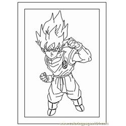 Normal Goku4 Free Coloring Page for Kids