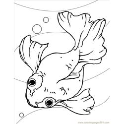 Goldfish Ink Free Coloring Page for Kids