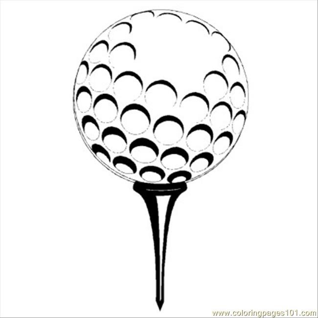 coloring book pages golf clubs - photo#45