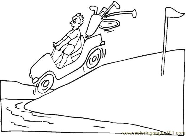 Golf 2 Coloring Pages 7 Com Coloring Page