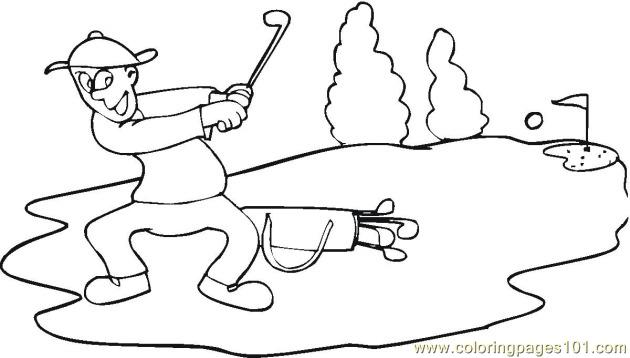 Golf Short Coloring Page