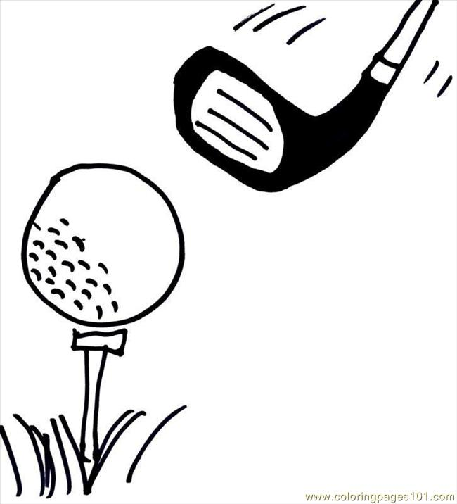 Golf Fun Fathers Day Coloring Page