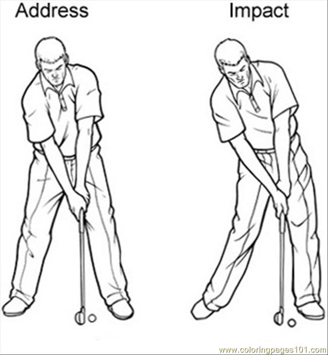 golf swing sequence coloring page
