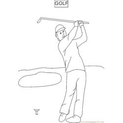 Play Golf Free Coloring Page for Kids