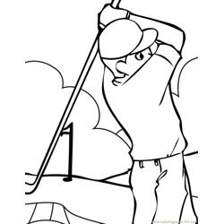 Golf Free Coloring Page for Kids