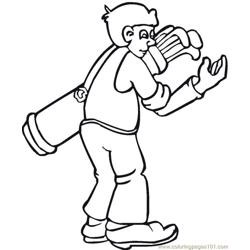 Close Bag Free Coloring Page for Kids