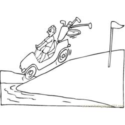 Golf Car Free Coloring Page for Kids