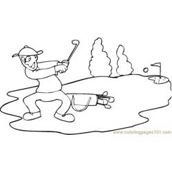 Golf Short Free Coloring Page for Kids