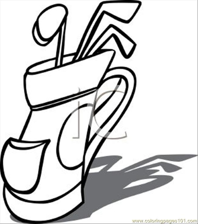 coloring book pages golf clubs - photo#25