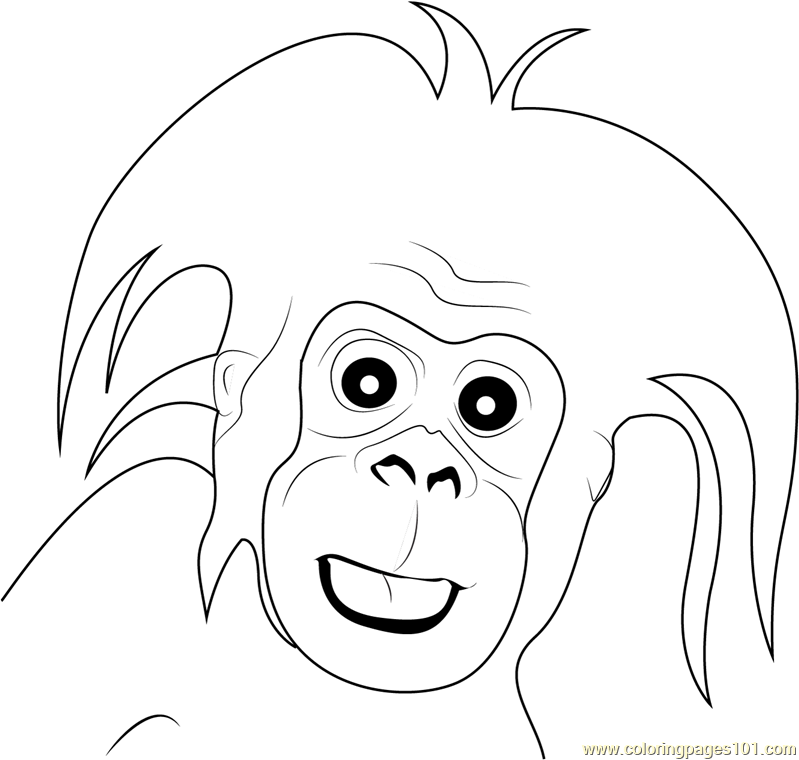 Christmas Gorilla Coloring Pages