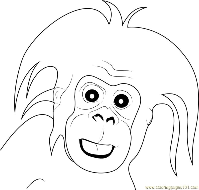 Gorilla Small Baby Coloring Page Free Gorilla Coloring