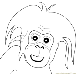 Gorilla Small Baby Free Coloring Page for Kids