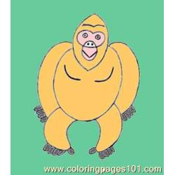 Gorilla Step4 Source Wg8 coloring page