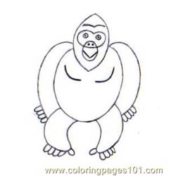 Gorilla Step4 Source Wg8 Free Coloring Page for Kids