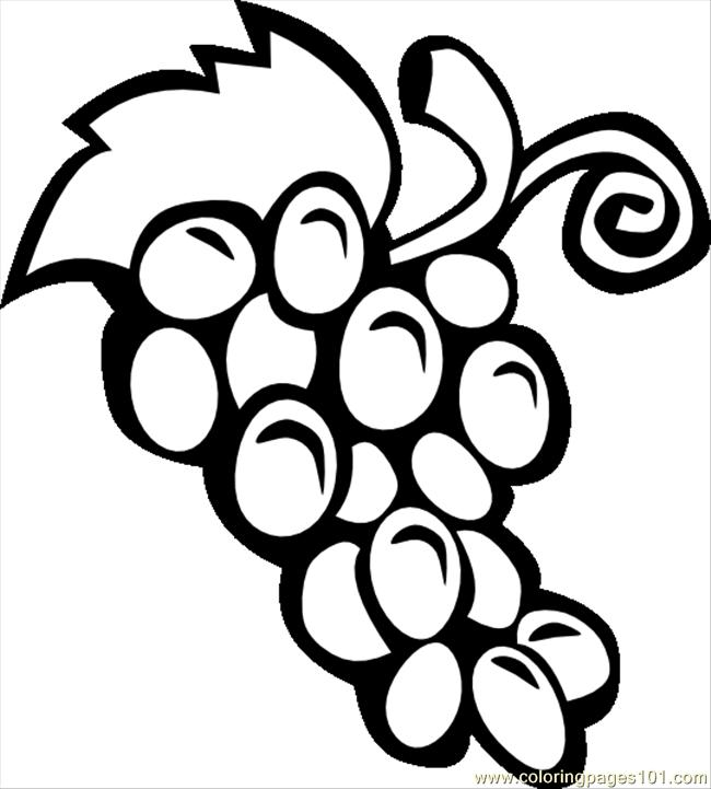 993416grapes Simple Bwsvghi Coloring Page