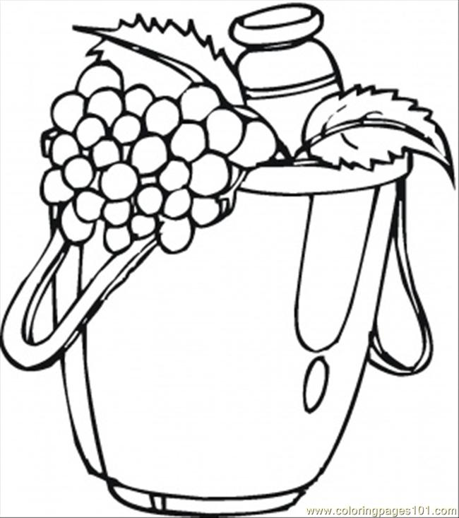 Nd Fresh Grapes Coloring Page Coloring Page