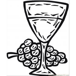 Glass Of Wine Coloring Page